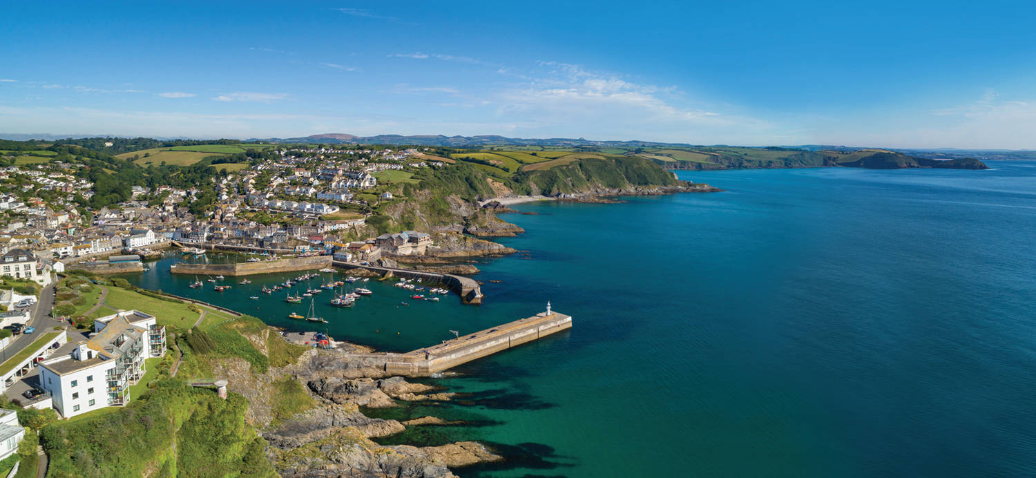 Mevagissey holiday lets panoramic image